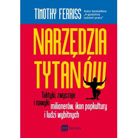 """""""Narzędzia tytanów"""" - okładka książki"""